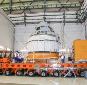 Starliner spacecraft on KAMAG
