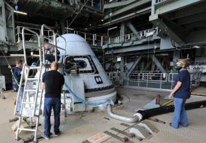 Starliner spacecraft in the United Launch Alliance Vertical Integration Facility
